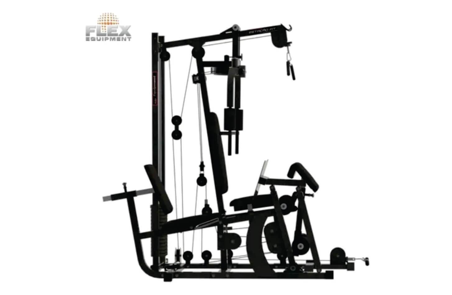 Multi Estação De Musculação Completa Com Leg Press 80 Kg