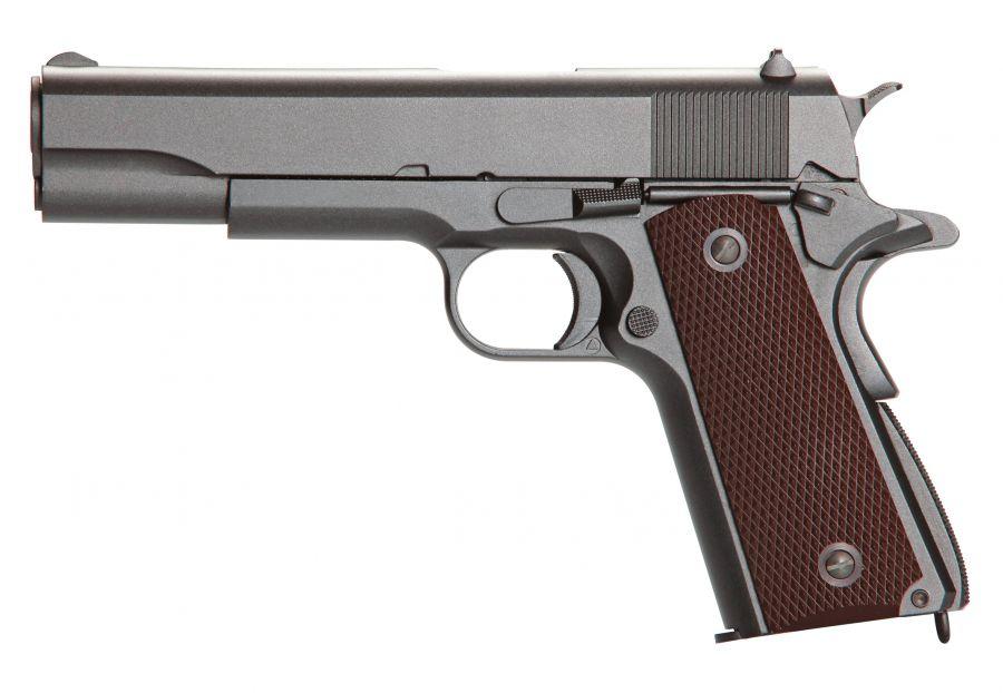 Pistola 1911 full metal 4,5mm chumbinho e esferas metalicas