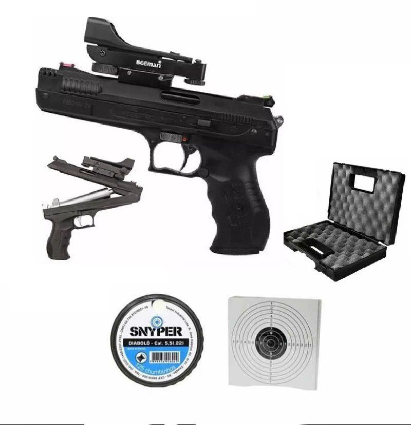 Pistola Beeman 2006 P17 5.5 e Red Dot Maleta + 100 Chumbinhos