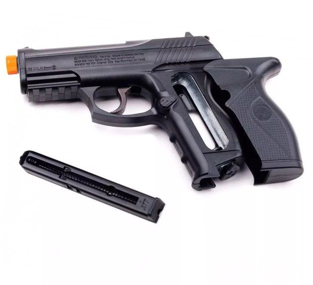 Pistola CO2  C11 Metal 4,5mm e 5 CO2 e 600 esferas