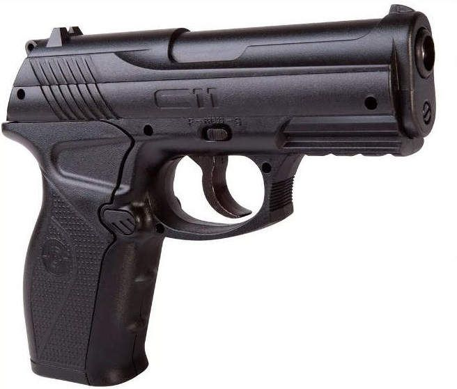 Pistola CO2  C11 Metal 4,5mm  e 5co2 e 600 esferas e Maleta