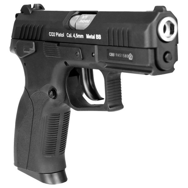 Pistola de Pressão CO2 Win Gun CZ300 W129 Slide Metal 4.5mm BlowBack
