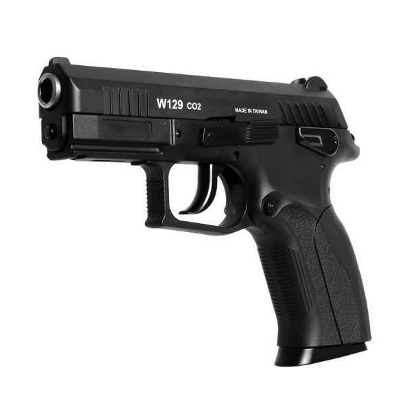 Pistola de Pressão CO2 Win Gun CZ300 W129 Slide Metal 4.5mm BlowBack