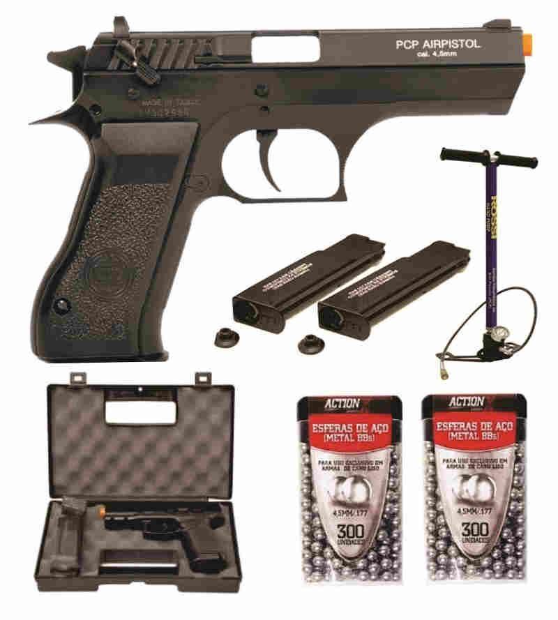 Pistola PCP P45 KWC 4.5  Bomba PCP e 600 Esferas