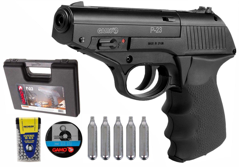 Pistolade Pressão Co2 Gamo P-23 4,5mm 12 Tiros - Preta