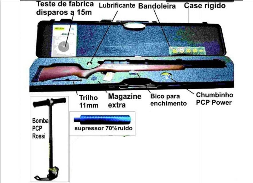 R8 Rossi + bomba pcp manual + supressor + 1x chumbinho pcp power