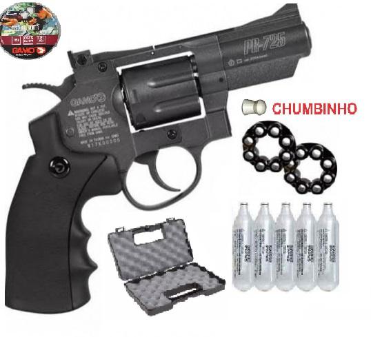 Revolver Gamo PR -725 Full Metal CO2  4,5mm 12 Tiros