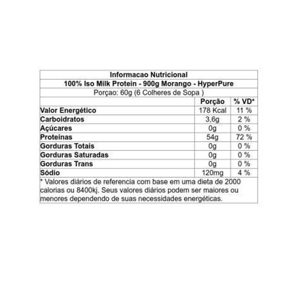 100% Iso Milk Protein 900g - HyperPure  - Personall Suplementos