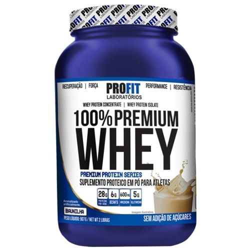 100% Premium Whey 907g - Profit   - Personall Suplementos