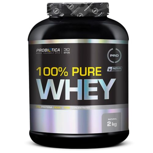 100% Pure Whey 2kG - Probiótica   - Personall Suplementos