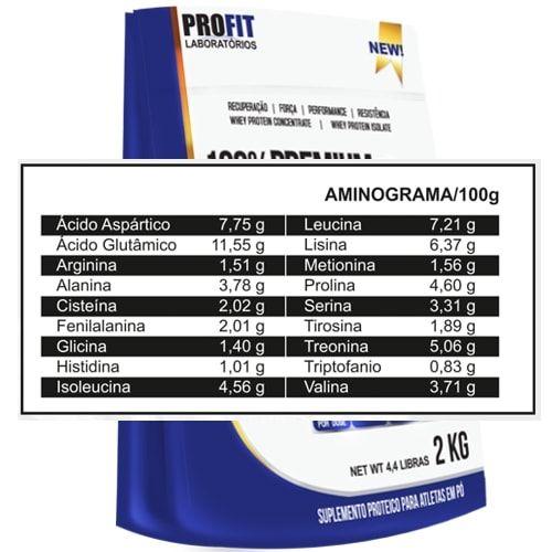 100% Whey Protein Premium 2Kg Profit   - Personall Suplementos