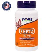 7-Keto 25 mg - 90 cápsulas - Now Foods