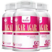 Ágar Ágar 500mg - 3 unidades de 60 cápsulas - Bionutrir