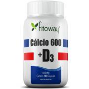 Calcio 600 + D3 180 cápsulas - Fitoway