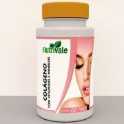 Colágeno Com Vitaminas e Minerais 60caps - Nutrivale
