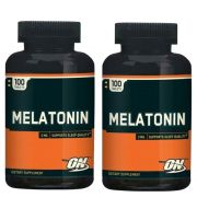 Kit 2x Melatonina 3mg Optimum Nutrition - 100 comprimidos cada