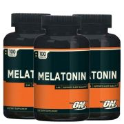 Kit 3x MELATONINA 3MG OPTIMUM NUTRITION - 100 COMPRIMIDOS CADA