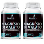 Magnésio Dimalato - 2 unidades de 60 cápsulas - Bionutrir