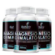 Magnésio Dimalato - 3 unidades de 60 cápsulas - Bionutrir