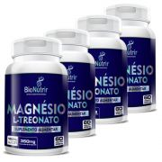 Magnésio L-Treonato - 4 unidades de 60 cápsulas - Bionutrir