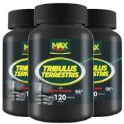 Tribulus Terrestris Com Maca Peruana - 3 unidades de 120 Cápsulas - Max Power