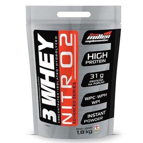 3 Whey Nitro2 1,8kg - New Millen  - Personall Suplementos