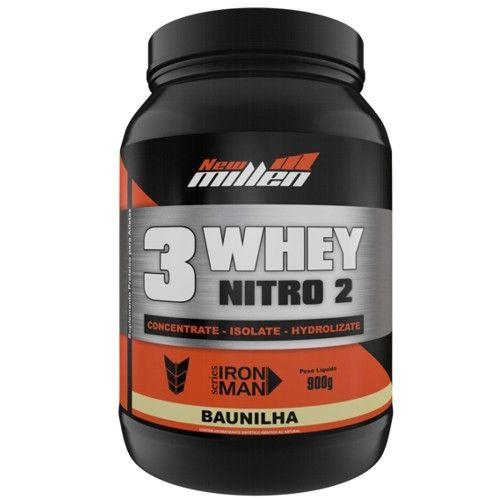 3 Whey Nitro2 900g - New Millen  - Personall Suplementos
