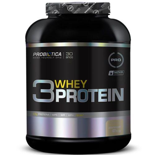 3 Whey Protein 2kg - Probiótica  - Personall Suplementos
