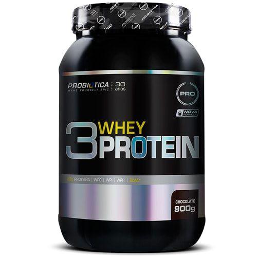 3 Whey Protein 900g - Probiotica  - Personall Suplementos