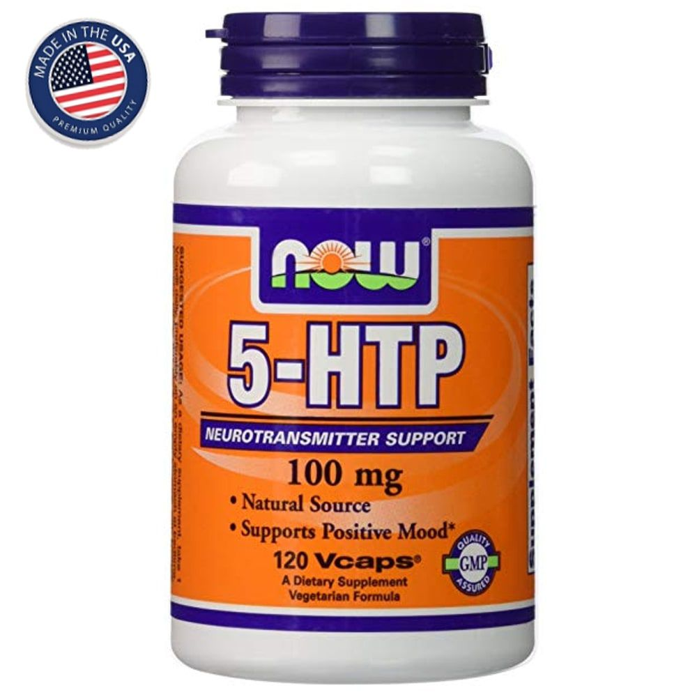 5-HTP 100 mg - 90 cápsulas - Now Foods