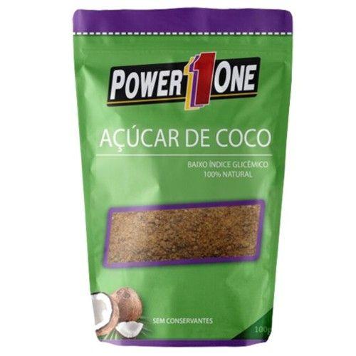 Açúcar de Coco 100g - Power1One  - Personall Suplementos