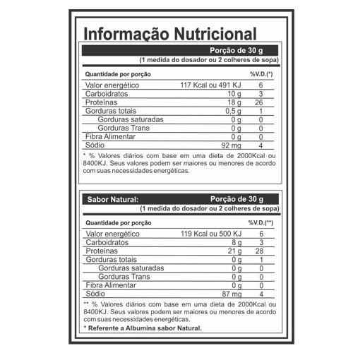 Albumina 1kg - Profit  - Personall Suplementos