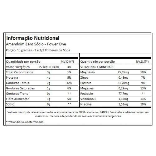 Amendoim Temperado 75g - Power1One  - Personall Suplementos