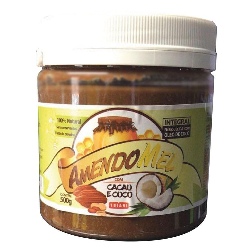 AmendoMel Com Cacau e Coco 500g - Thiani Alimentos  - Personall Suplementos