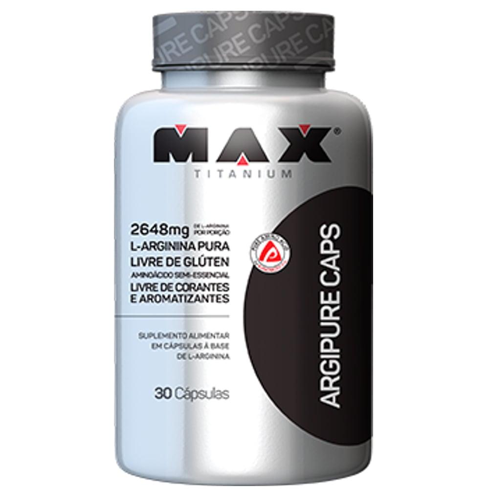 Argipure 30 cápsulas - Max Titanium  - Personall Suplementos