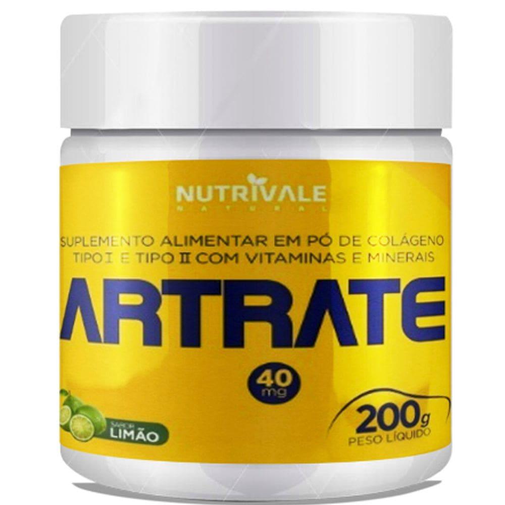 Artrate em pó (Colágeno Tipo I e II) - 200 gramas - Nutrivale