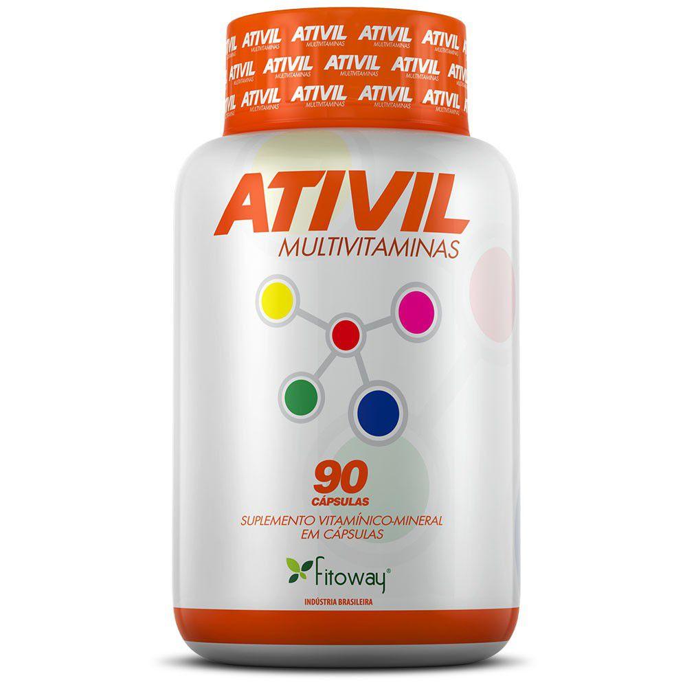 Ativil Multivitaminas 90 cápsulas - Fitoway