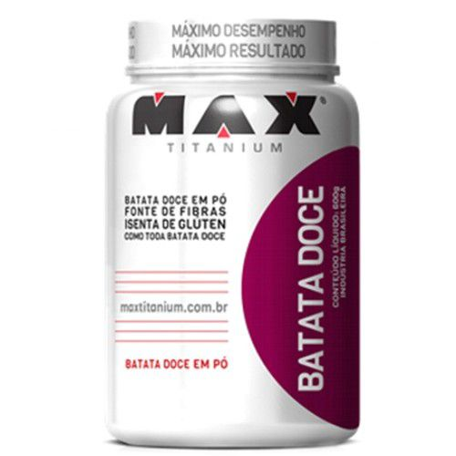 Batata Doce Roxa 600g - Max Titanium  - Personall Suplementos