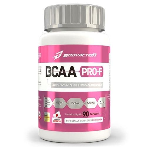 BCAA PRO-F 90caps - Body Action  - Personall Suplementos