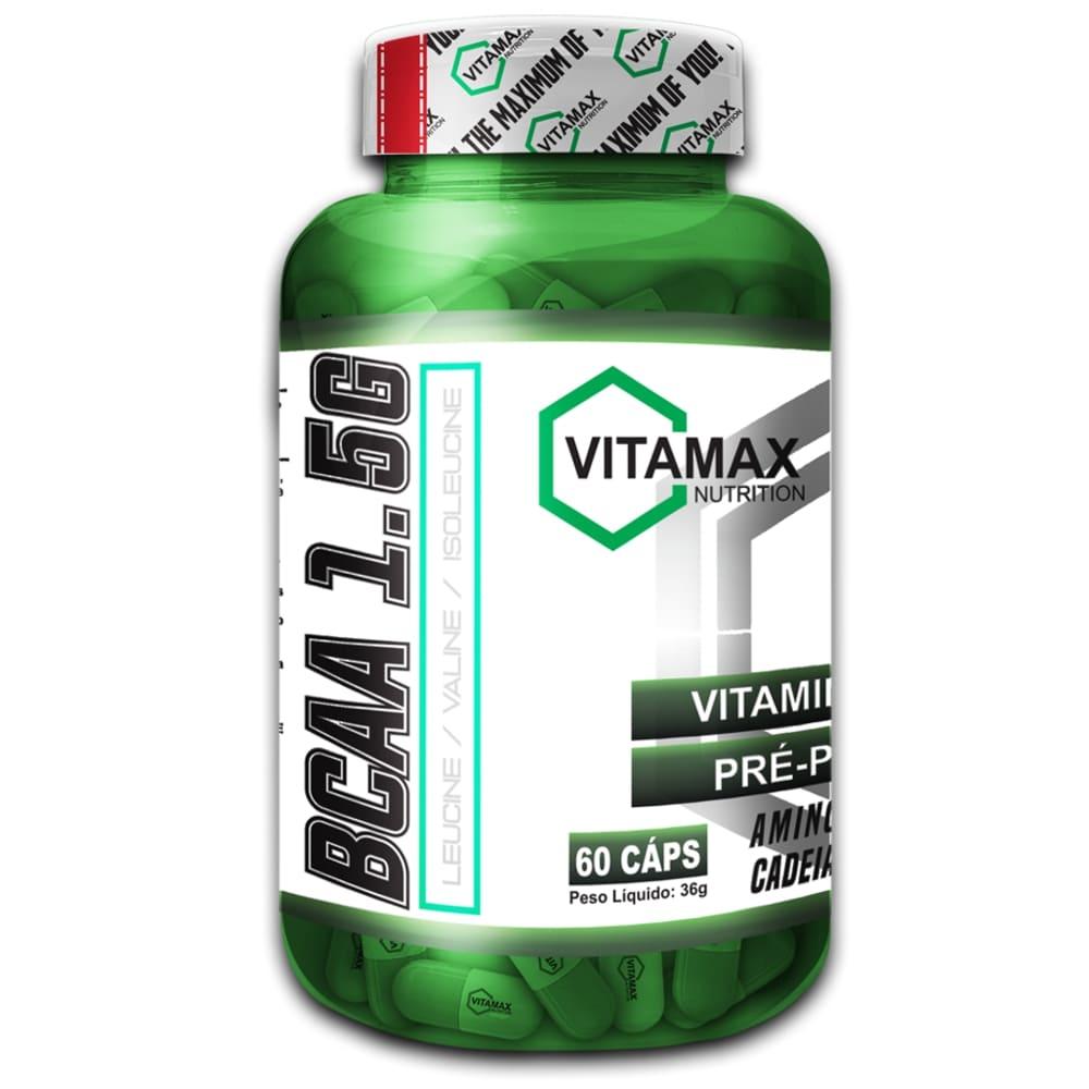 BCAA 1.5 G - 60 Cápsulas - Vitamax  - Personall Suplementos
