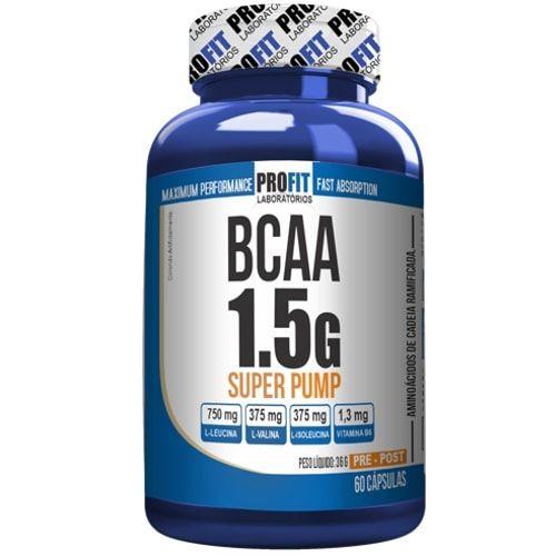 BCAA 1.5g Super Pump 60caps - Profit  - Personall Suplementos