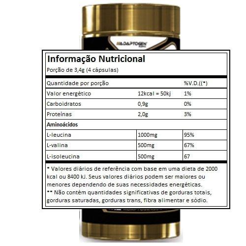 BCAA 2000 90caps - Adaptogen  - Personall Suplementos