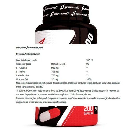 BCAA 2400 100caps - Body Action  - Personall Suplementos