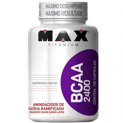 Bcaa 2400 100caps - Max Titanium  - Personall Suplementos