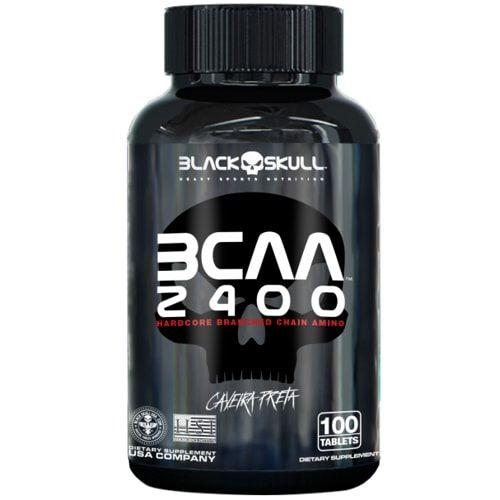 BCAA 2400 100tabs - Black Skull  - Personall Suplementos