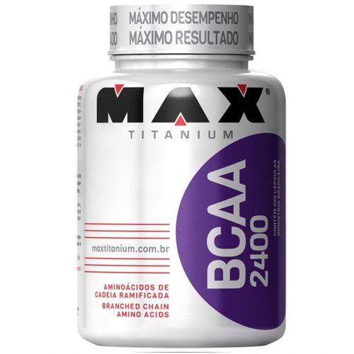 Bcaa 2400 200caps - Max Titanium  - Personall Suplementos