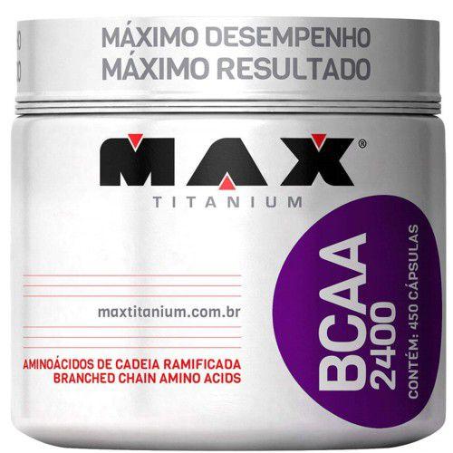 Bcaa 2400 450caps - Max Titanium  - Personall Suplementos