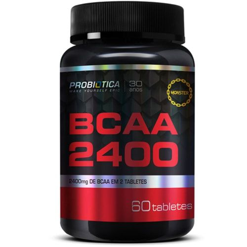 BCAA 2400 60tabs - Probiotica  - Personall Suplementos