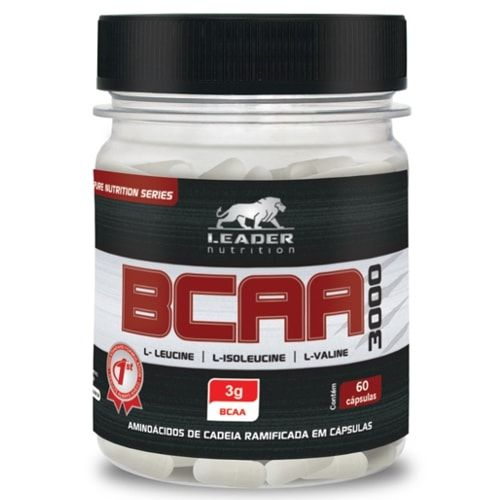 BCAA 3000 60caps - Leader Nutrition  - Personall Suplementos