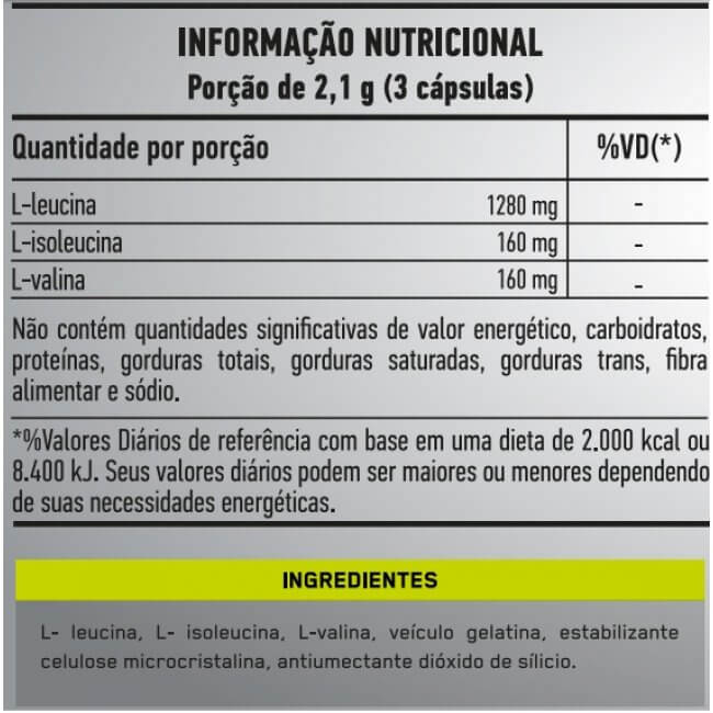 BCAA 8:1:1 120caps - Military Trail  - Personall Suplementos